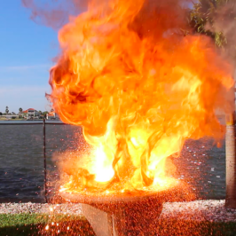 Lighting a Pound of Thermite on a Cake